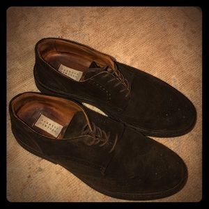 Barney's brown suede/leather dress shoes